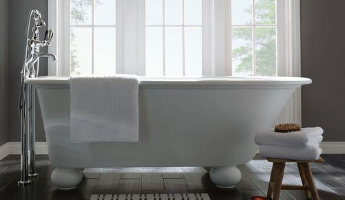 bathtub with legs / oval / composite