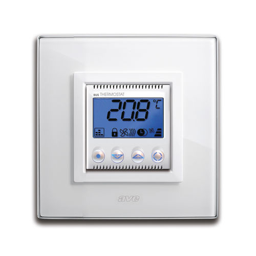 programmable thermostat / wall-mounted / for heating / for home automation systems