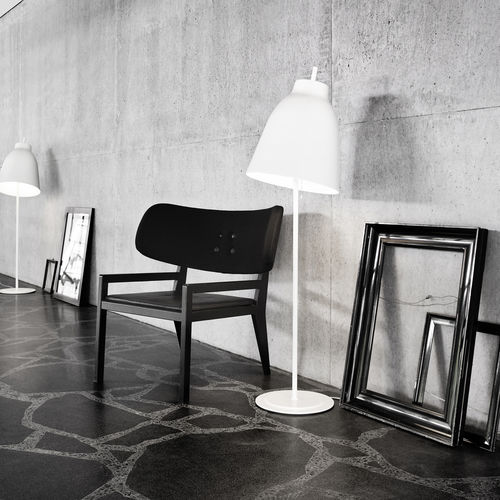 Floor-standing lamp / contemporary / aluminum / steel CARAVAGGIO by Cecilie Manz Lightyears