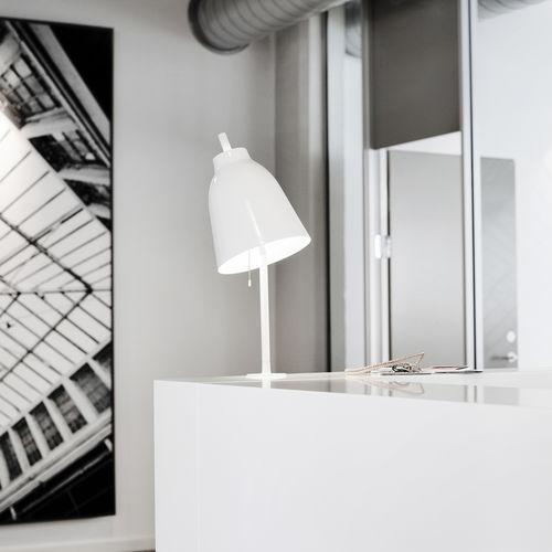 table lamp / contemporary / aluminum / steel