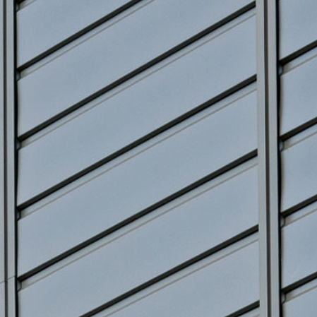 aluminum cladding / grooved / panel / vertical