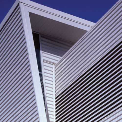 aluminum ventilation grill / rectangular / linear / for facades