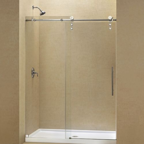 Tempered Glass Shower Kit For Alcoves With Sliding Door