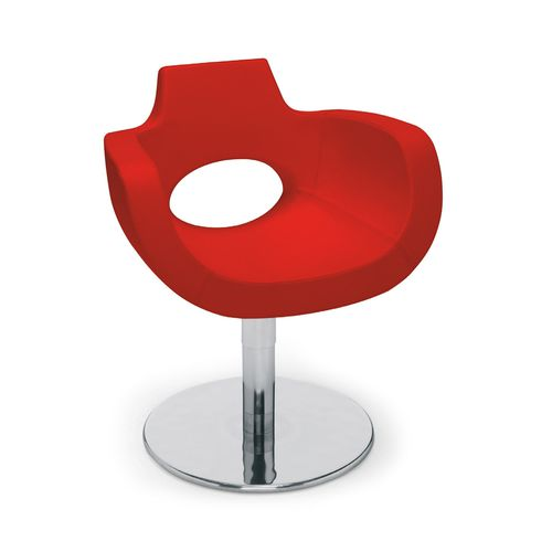 Vinyl beauty salon chair / swivel / central base 9000 : AUREOLE by Anton Kobrinetz Gamma & Bross