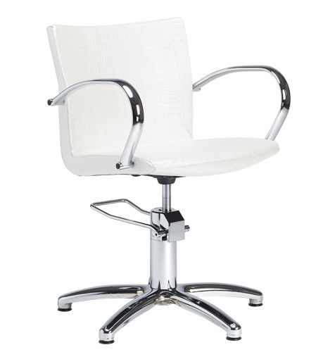 synthetic leather makeup chair / adjustable / star base