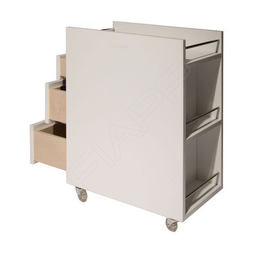 treatment trolley / for beauty salons / metal