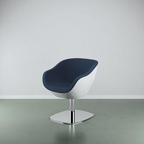 leather beauty salon chair / steel / fiberglass / central base