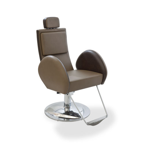 steel beauty salon chair / with headrest / with footrest / star base