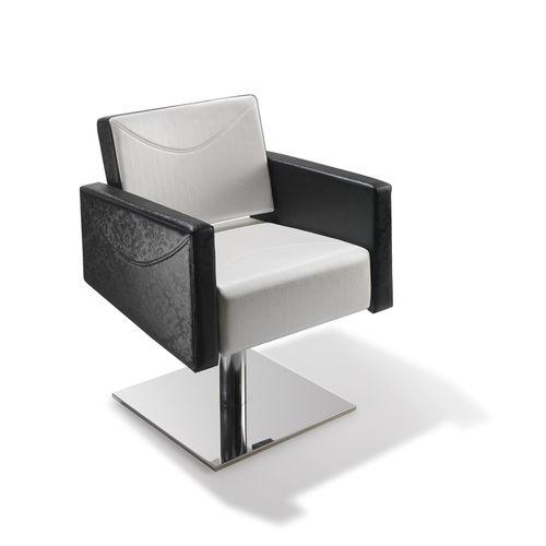wooden beauty salon chair / polyurethane / central base