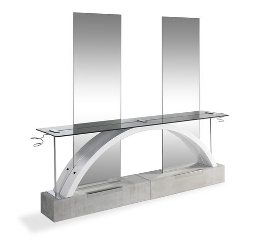contemporary dressing table / glass / for hairdressers
