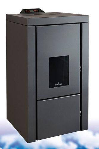 pellet boiler stove / contemporary / metal