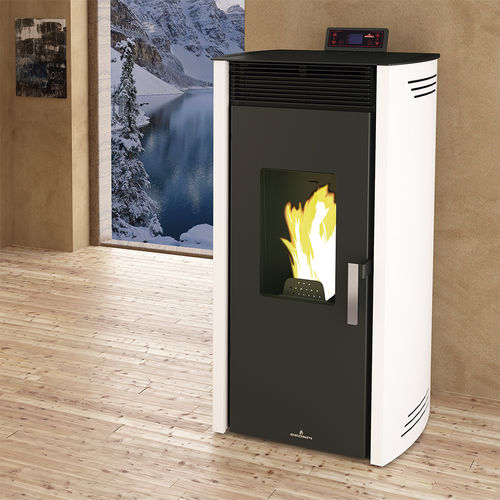 pellet boiler stove / contemporary / metal