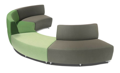 modular upholstered bench / contemporary / fabric / with backrest