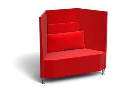Contemporary visitor armchair / textile / modular TRAPEZE DAVISON HIGHLEY