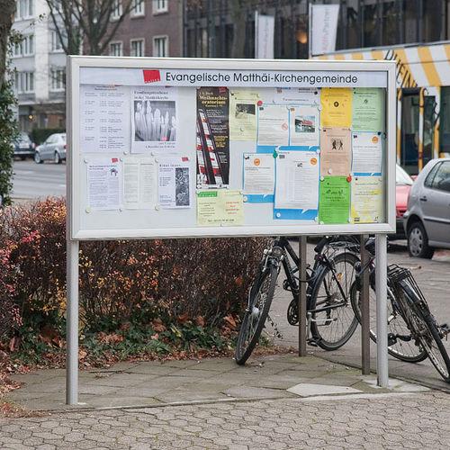 outdoor display panel / magnetic / aluminum