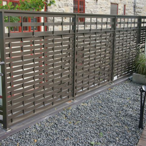 garden fence / with bars / aluminum