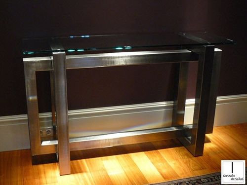 Sideboard table / contemporary / crystal / iron THASOS GONZALO DE SALAS