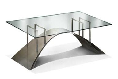 contemporary table / stainless steel