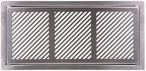 stainless steel ventilation grill / rectangular