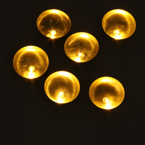 Contemporary ceiling light / round / brass / LED NENUPHARS Semeur d'étoiles