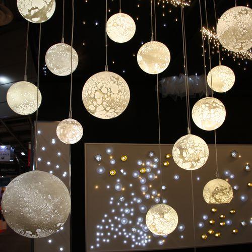 Contemporary chandelier / blown glass / LED LUNES MONUMENTAL Semeur d'étoiles