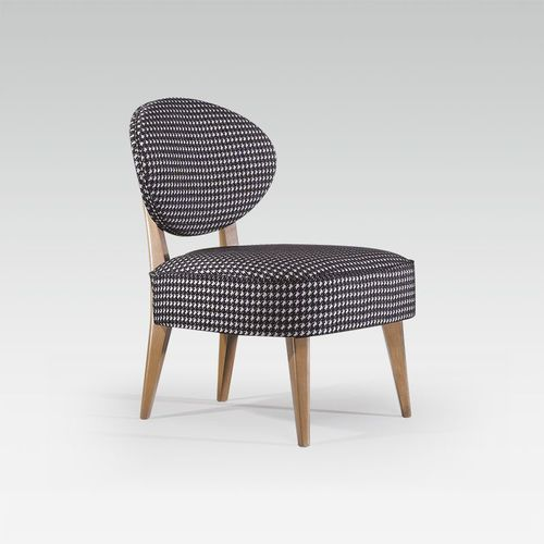 contemporary fireside chair / fabric / beech / commercial