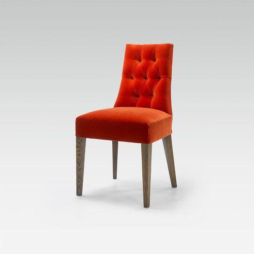 contemporary chair / custom / fabric / beech