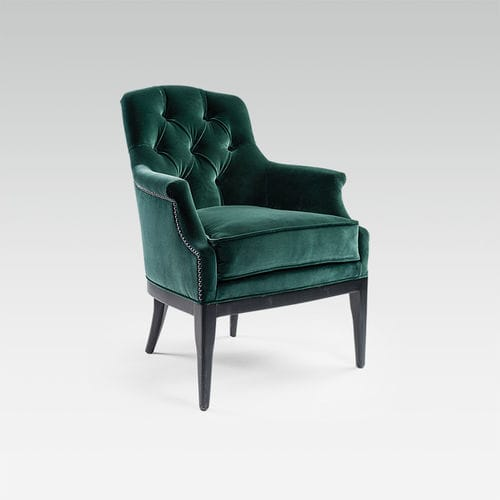 traditional armchair / fabric / beech / for hotels