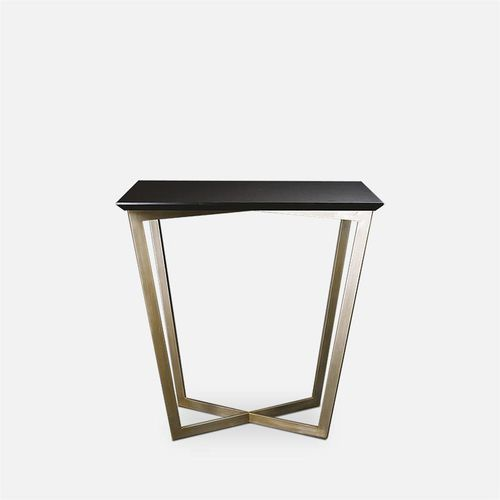 contemporary table / MDF / metal / rectangular