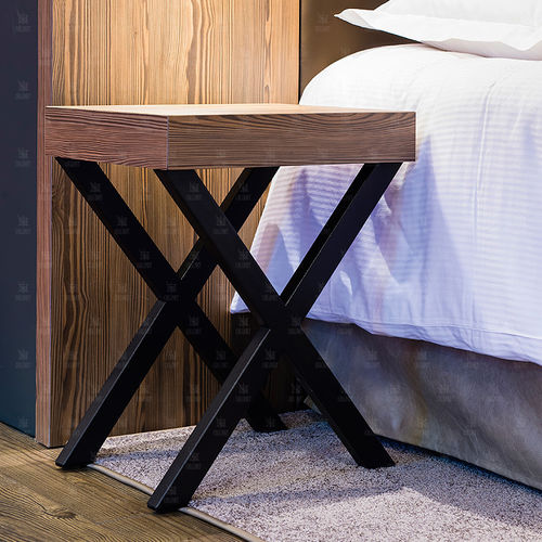 contemporary table / wooden / rectangular / for hotels