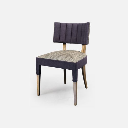 contemporary restaurant chair / upholstered / leather / fabric