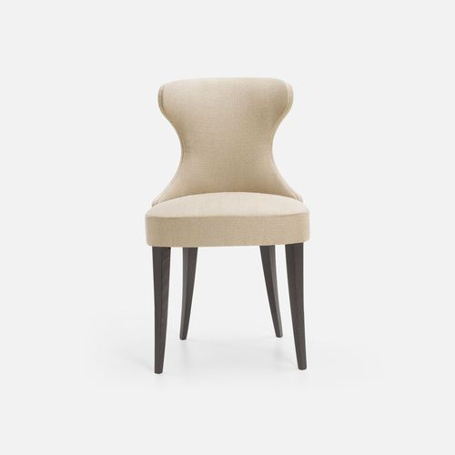 traditional restaurant chair / upholstered / beech / fabric