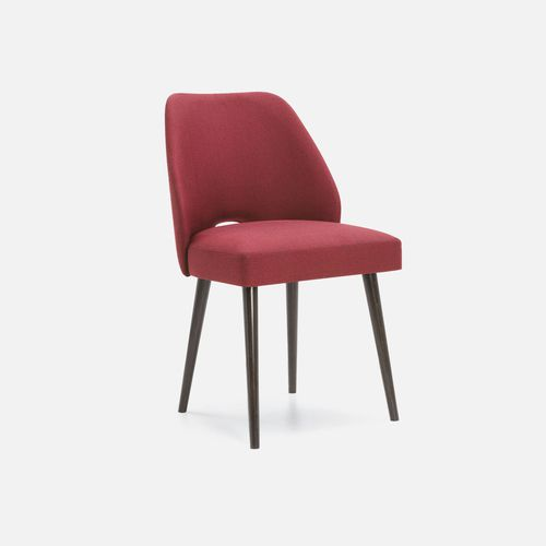 contemporary restaurant chair / upholstered / fabric / beech