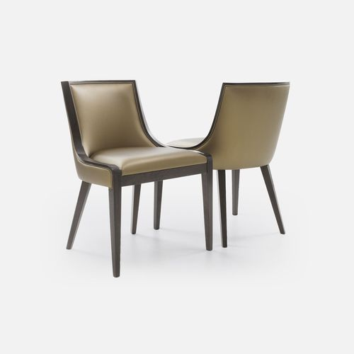 traditional restaurant chair / upholstered / fabric / beech