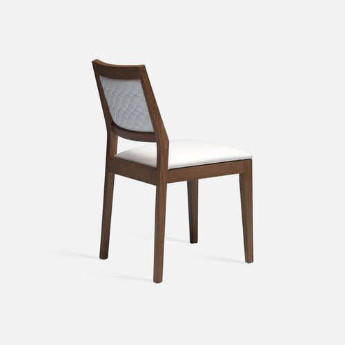 traditional restaurant chair / stackable / with armrests / upholstered