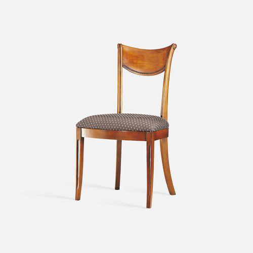 traditional restaurant chair / upholstered / with armrests / with removable cushion
