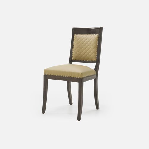 traditional restaurant chair / with armrests / upholstered / beech