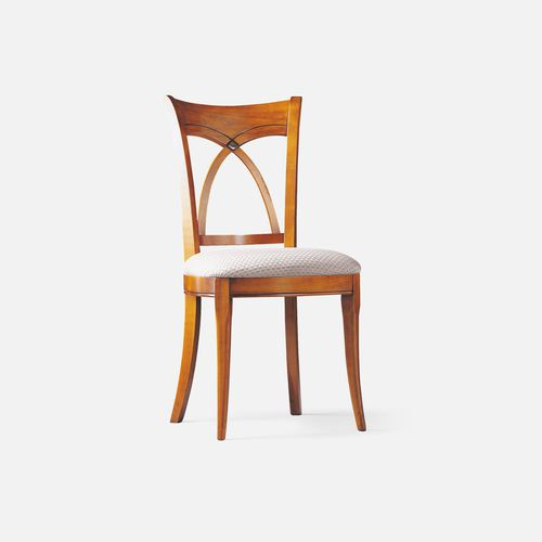 traditional restaurant chair / upholstered / with removable cushion / cherrywood