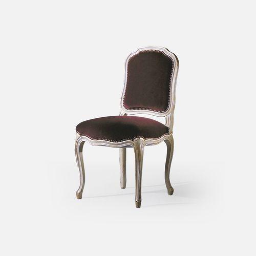 Louis XV restaurant chair / upholstered / beech / fabric