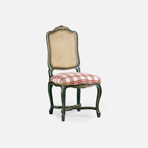 Louis XV restaurant chair / upholstered / fabric / beech