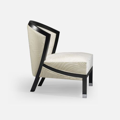 contemporary fireside chair / fabric / beech / for hotels