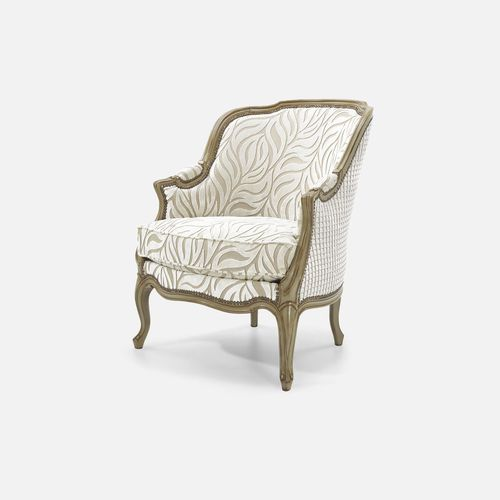 Louis XV style armchair / beech / fabric / wing