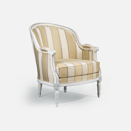 Louis XVI armchair / beech / fabric / with removable cushion