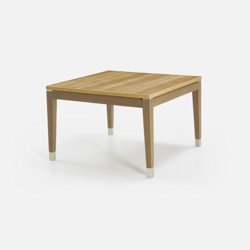 contemporary coffee table / solid wood / square / for hotels
