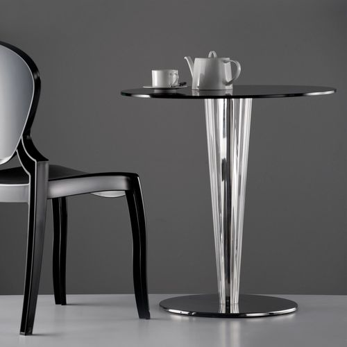 contemporary bistro table / plastic / round / commercial