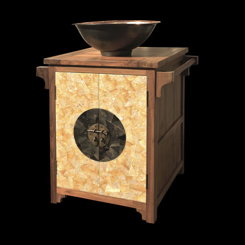 Teak washbasin cabinet / free-standing / contemporary FAR HP SDBSM MATAHATI