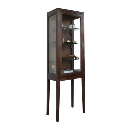 traditional display case / with long legs / teak
