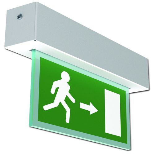 ceiling emergency light / recessed / linear / LED