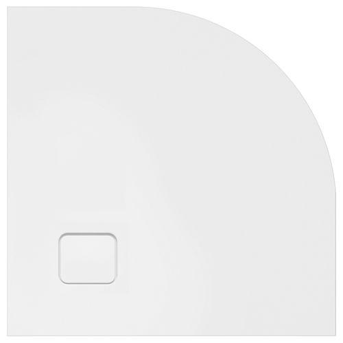corner shower base / acrylic / extra-flat / non-slip