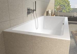 Acrylic bathtub LUGO MAT - VELVET WHITE RIHO